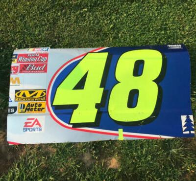 Jimmie Johnson 2002 Rookie Lowes #48 NASCAR Race Used Sheetmetal Door Panel