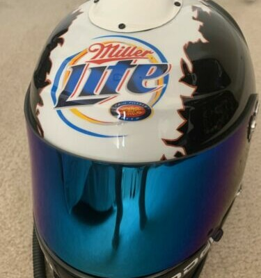 Rusty Wallace RACE USED Puddle of Mudd Helmet Millier Lite