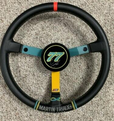 2017 Erik Jones Martin Truex Jr Foundation Autographed Race Used Steering Wheel