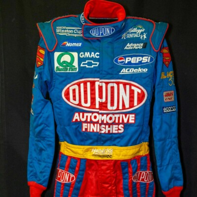 NASCAR Cup Series driver Jeff Gordon No. 24 race used Superman firesuit