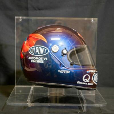 1999 Jeff Gordon Superman/Pepsi/DuPont helmet with display case
