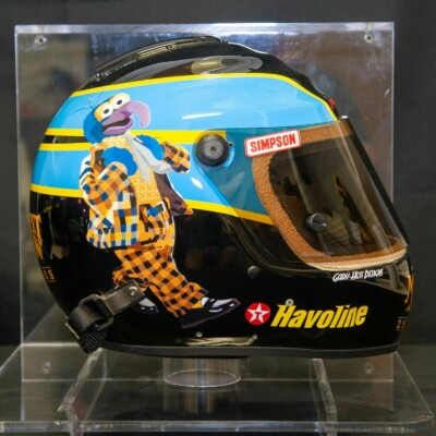 2002 Ricky Rudd The Muppet Show race used helmet with display case