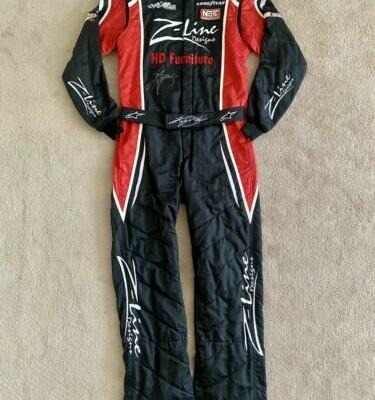 Nascar Race Worn Used Kyle Busch Fire Suit Fontana 2009 WIN Championship Season
