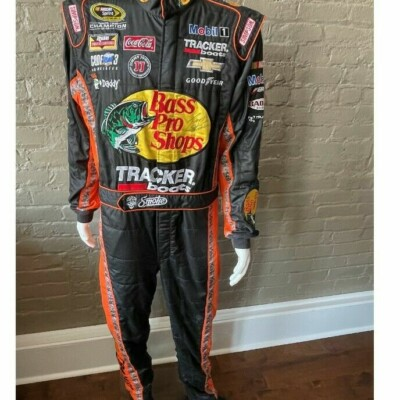 3-Time NASCAR Champ TONY STEWART Bass Pro Shops Fire Suit, Signed-Free Shipping!