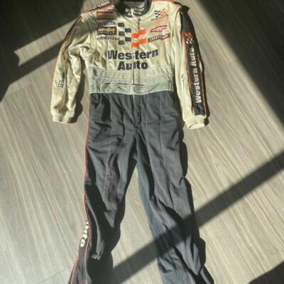 Darryl Waltrip Race Worn Fire Suit With Gloves NASCAR Card