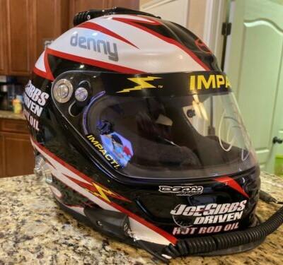 Denny Hamlin Autographed Winning NASCAR Race Used Worn Helmet