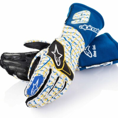 Chase Elliott autographed racing gloves for charity